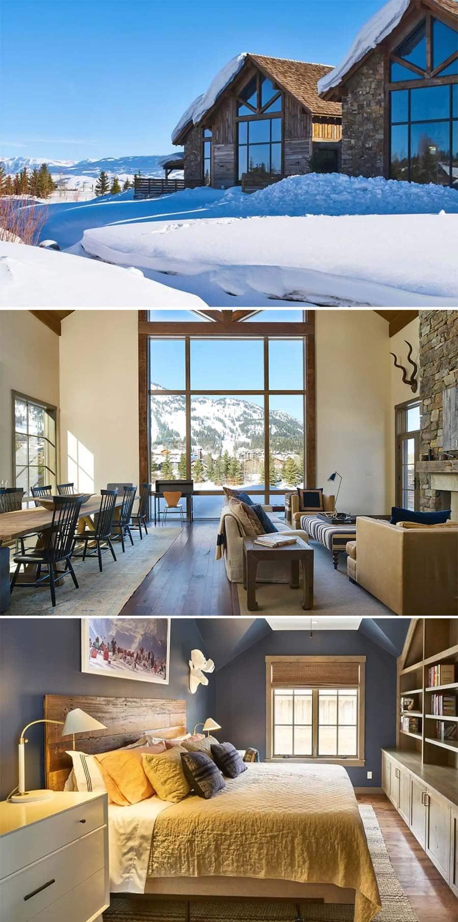 Shooting Star cabin - luxury cabin airbnbs in Jacksonhole, Wyoming