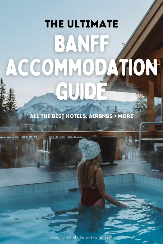 Where to stay in Banff pin cover
