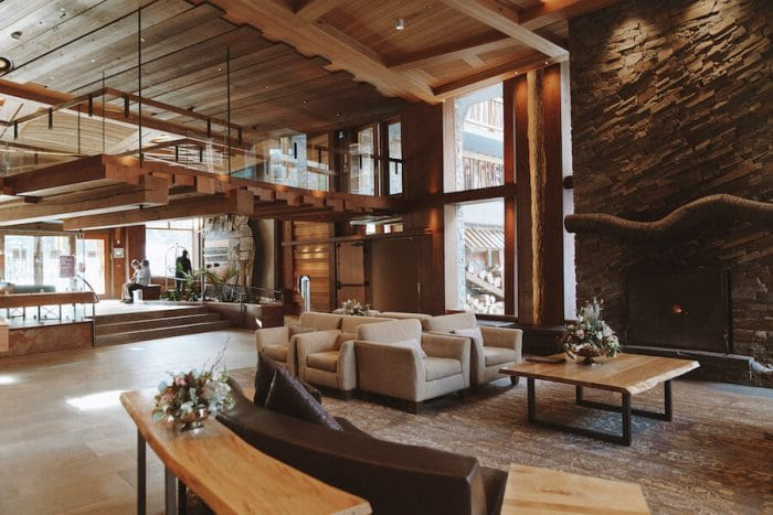 Moose Hotel and Suites lobby in downtown Banff - where to stay in Banff