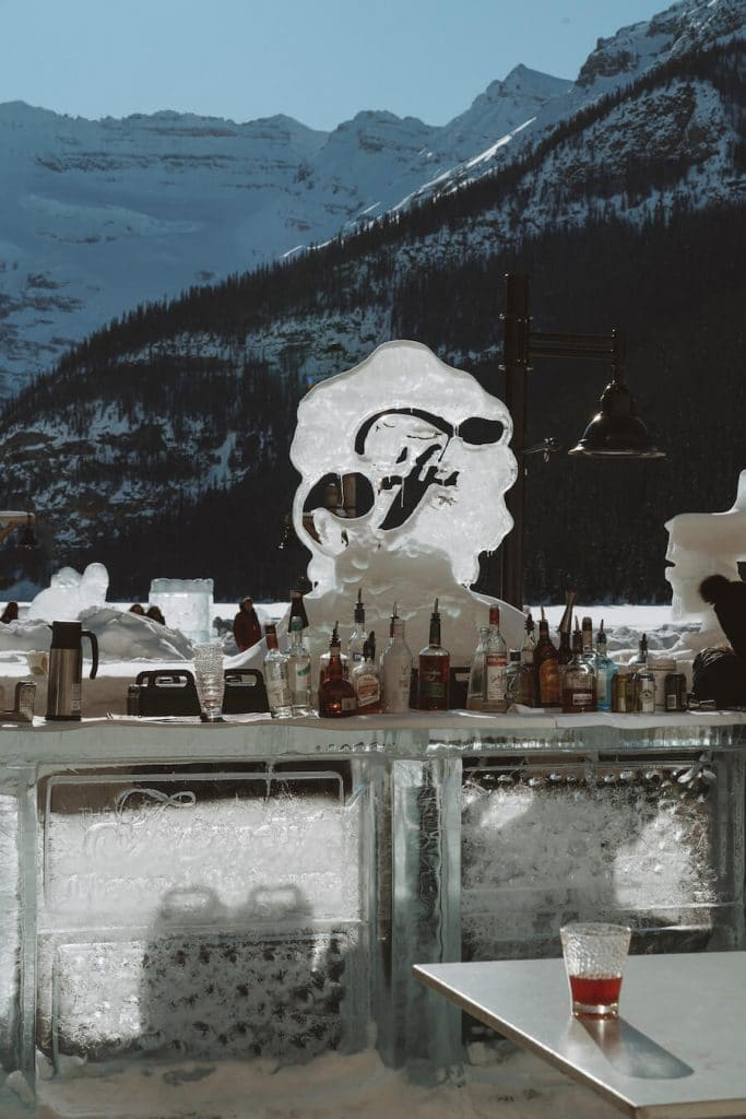 Ice bar at the Fairmont Chateau Lake Louise - where to stay in Banff