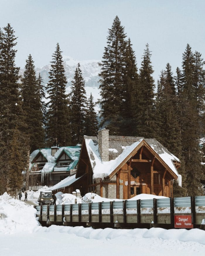 Emerald Lake Lodge in winter - where to stay in Banff
