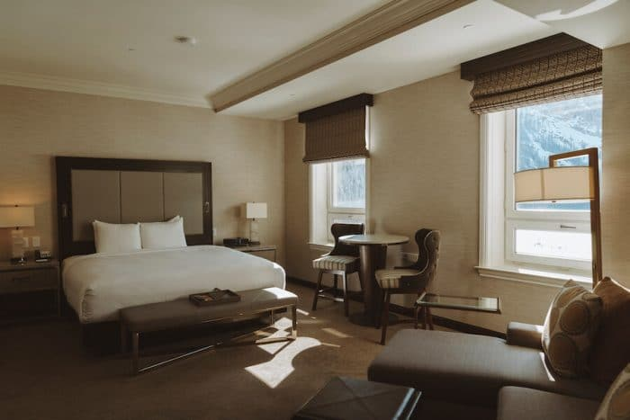 Luxurious rooms at the Fairmont Chateau Lake Louise