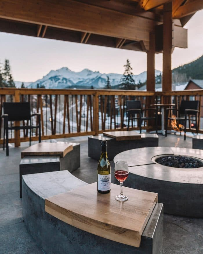 Moose Hotel and Suites rooftop in Banff, Canada