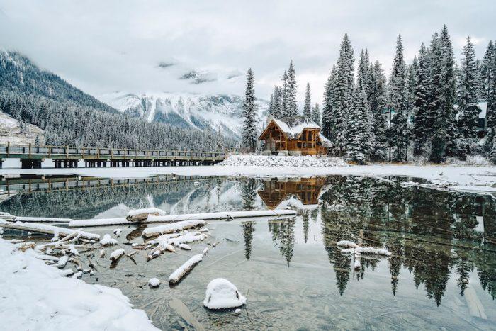 Emerald Lake Lodge, Banff, Canada in winter