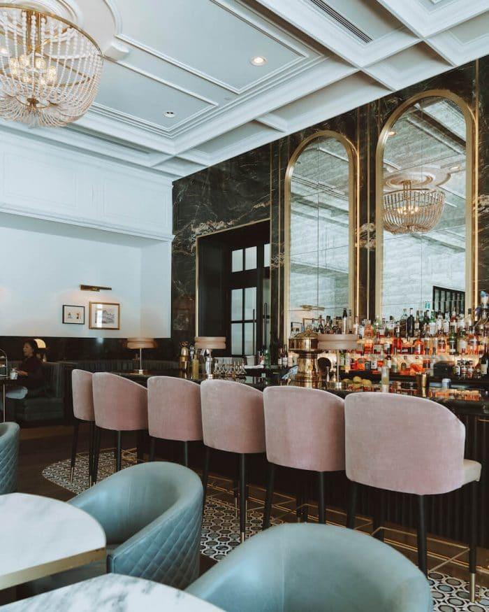 Bar inside Fairmont Chateau Lake Louise