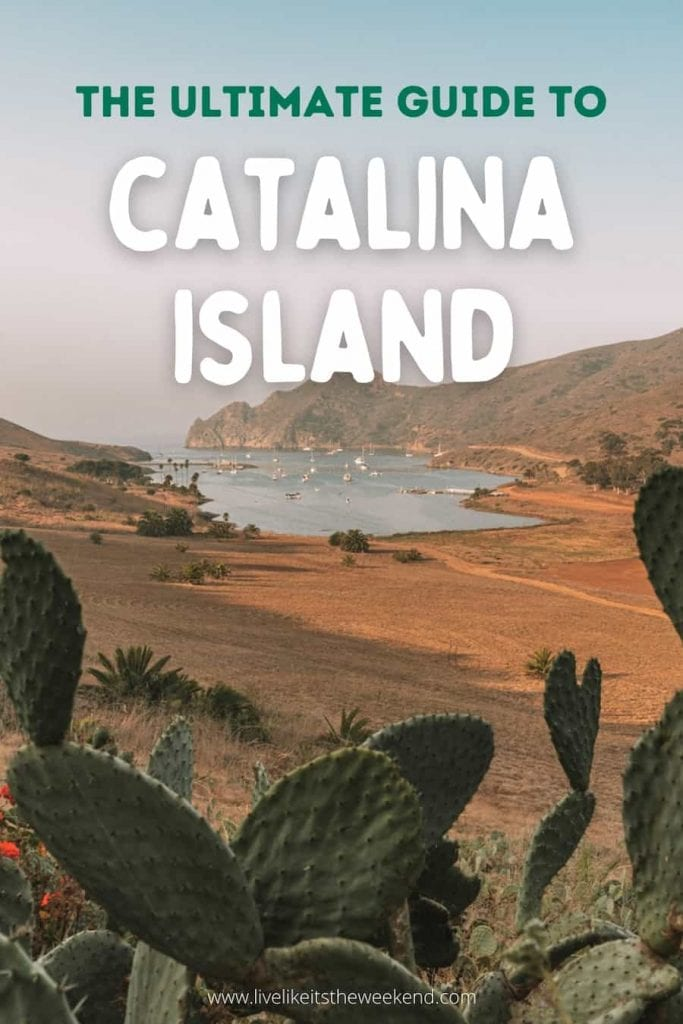 Pin cover for Catalina Island guide