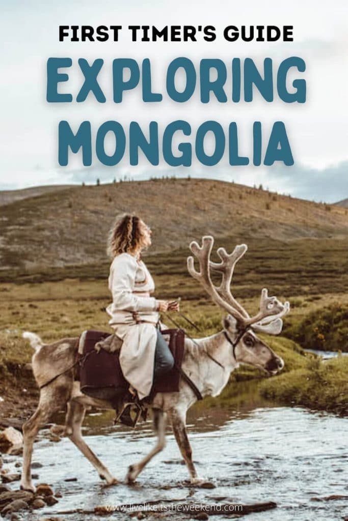 Mongolia itinerary guide Pinterest cover