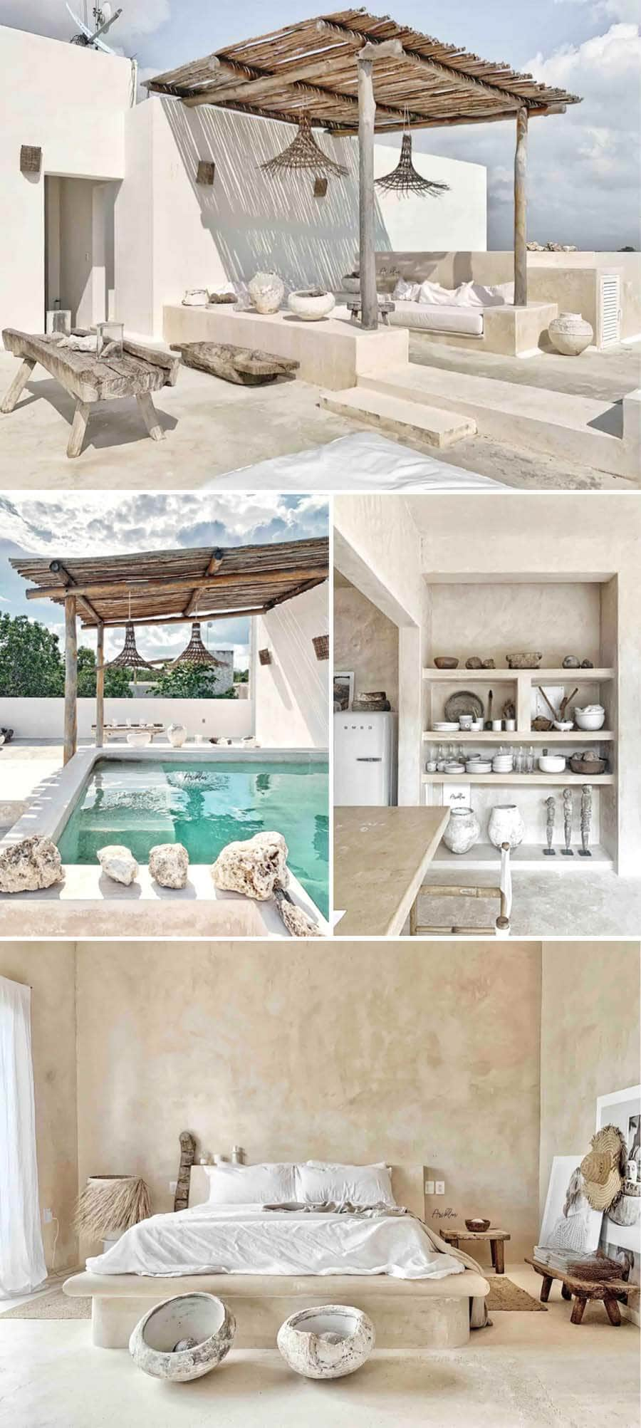 Best Airbnbs in Tulum - Aesthetic apartment in white and neutrals