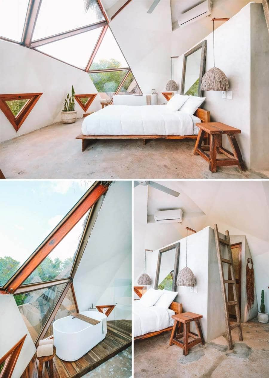 Geodesic dome accommodation in Tulum