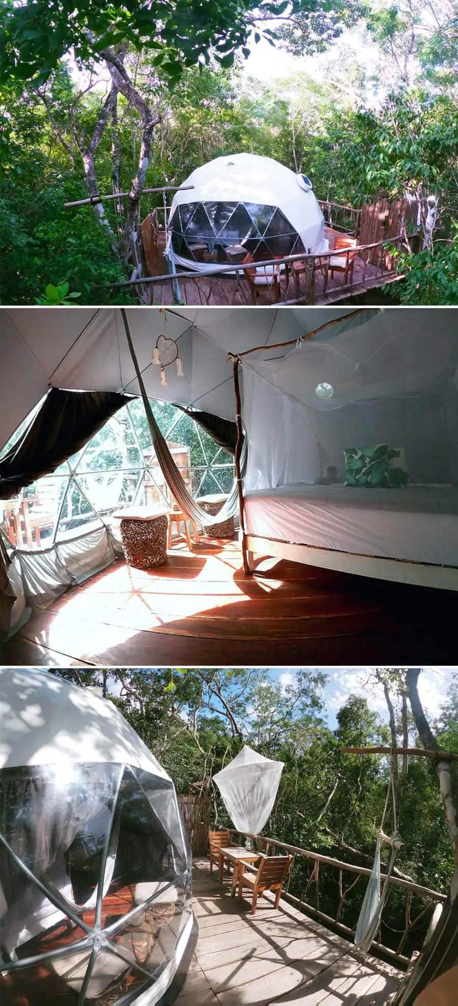 Eco jungle house dome in Tulum