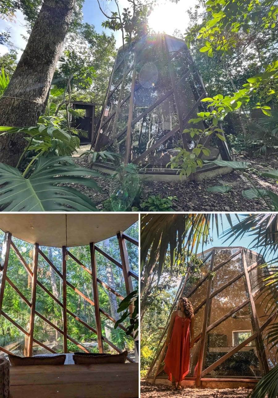 Unique Airbnb accommodation in Tulum in the jungle