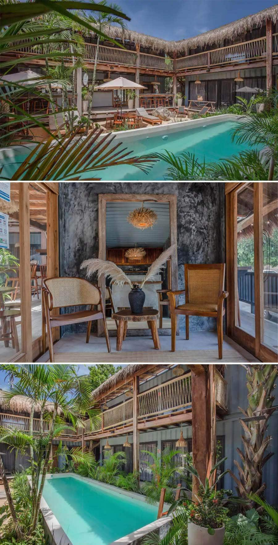 Best Airbnbs in Tulum - pool and coffeeshop