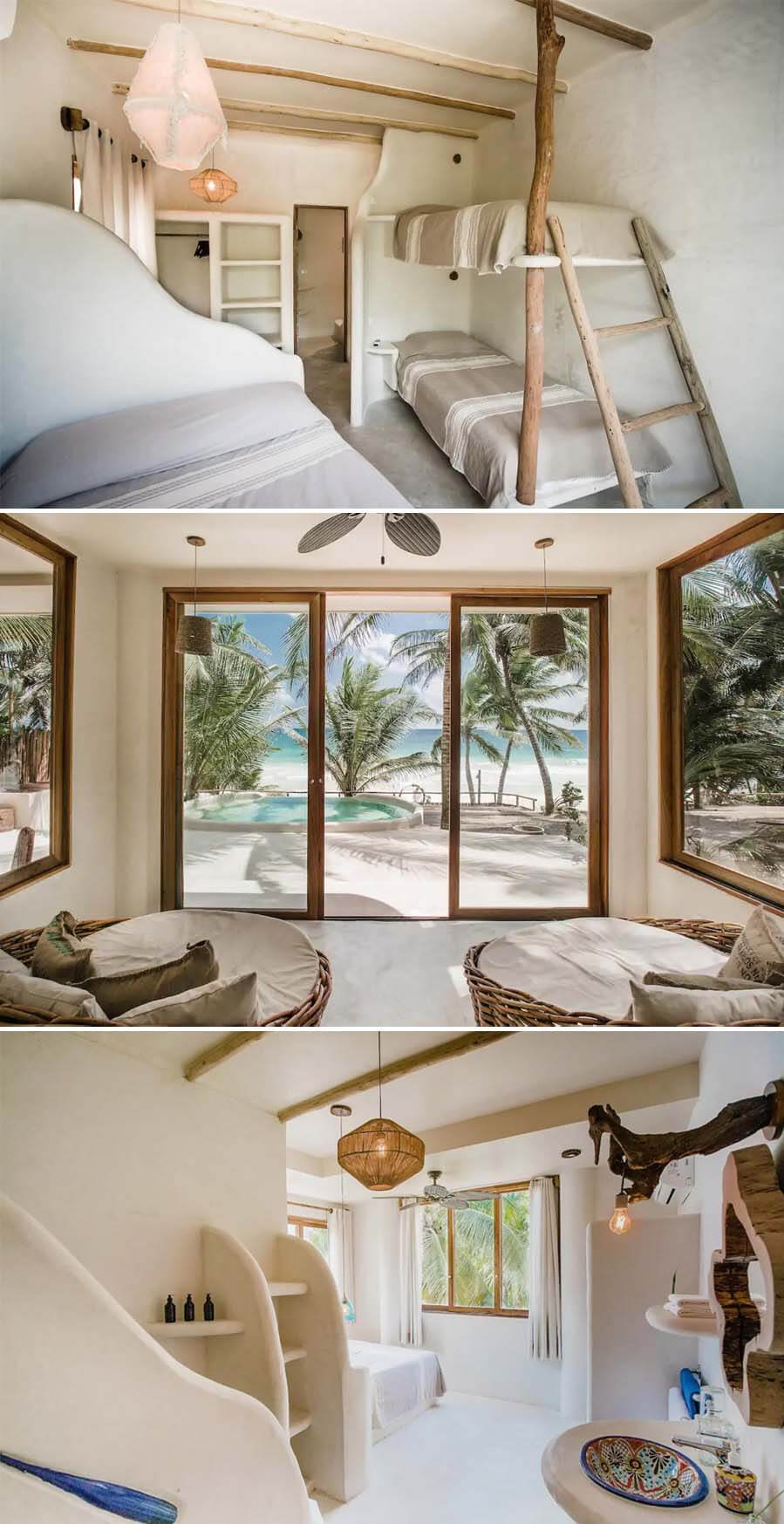 Beautiful oceanfront Airbnb in Tulum with patio