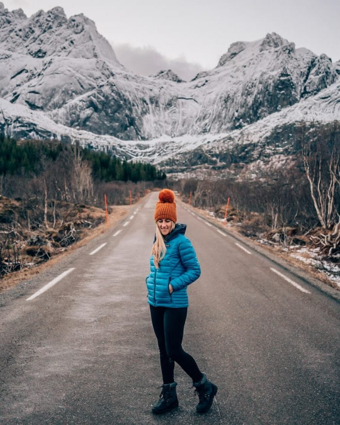 road tripping through Norway in winter