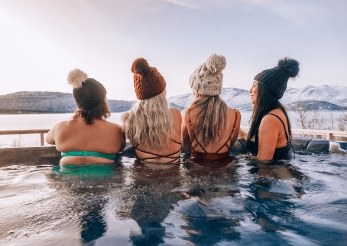 hot tub in Norway in winter