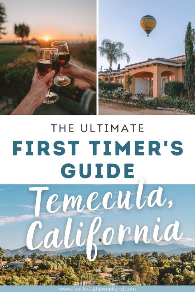 Pinterest cover for Temecula guide
