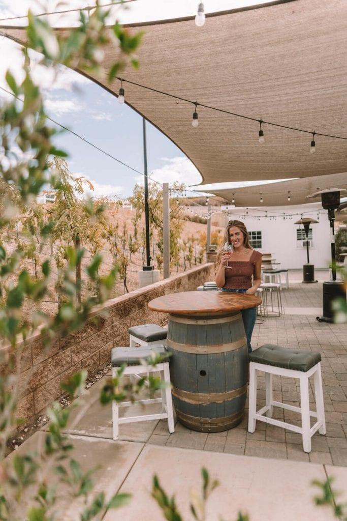 Michelle Halpern at Akash Winery in Temecula
