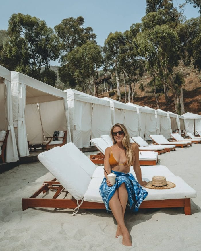 What to do in Catalina - Michelle Halpern at Descanso Beach Club, Catalina