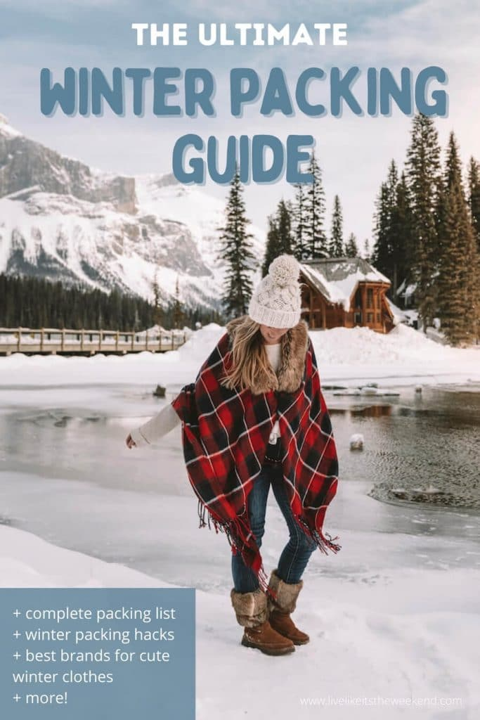 Pinterest cover - what to pack for a winter trip
