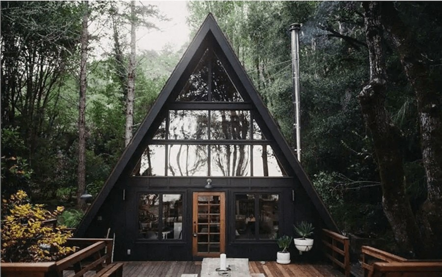 Unique places to stay in California - Aframe cabin