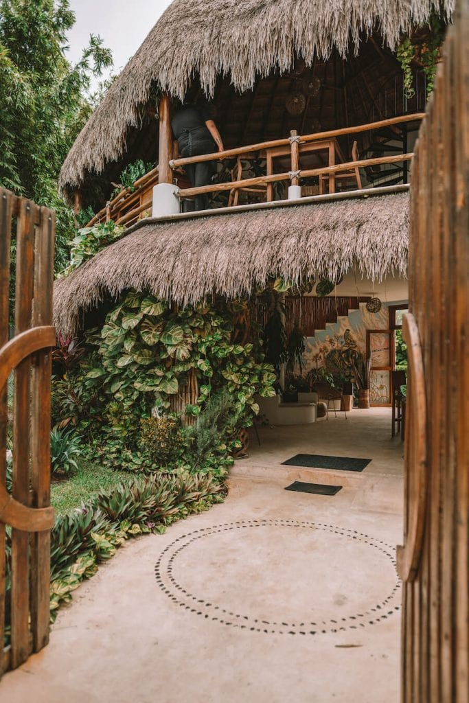 Entrance to Hotel Aires in Bacalar