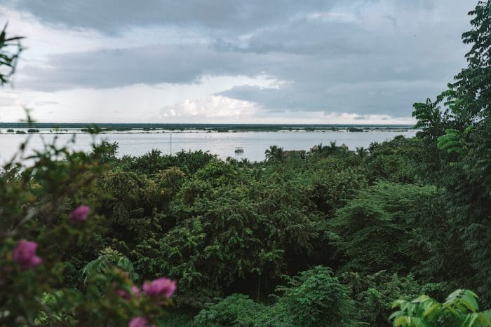 View from Hotel Aires of the Bacalar Lagoon