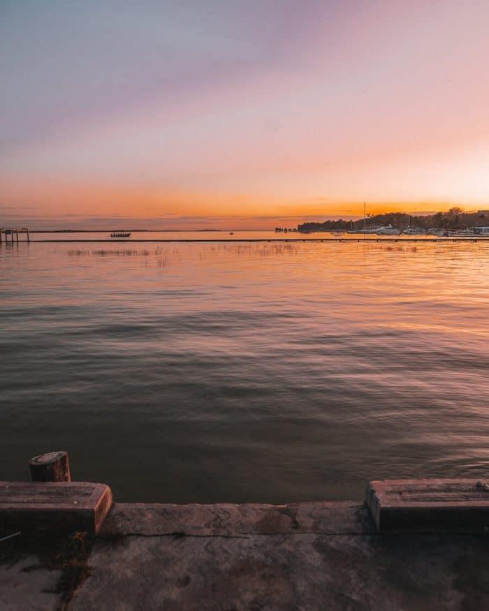 Sunset over the Bacalar Lagoon