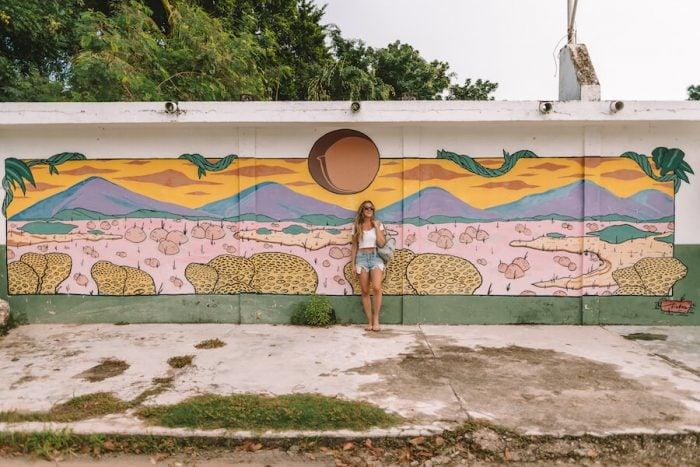 Mural outside Enamora Bacalar