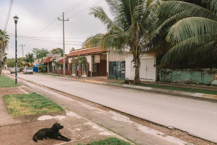 Streets of Bacalar, Mexico