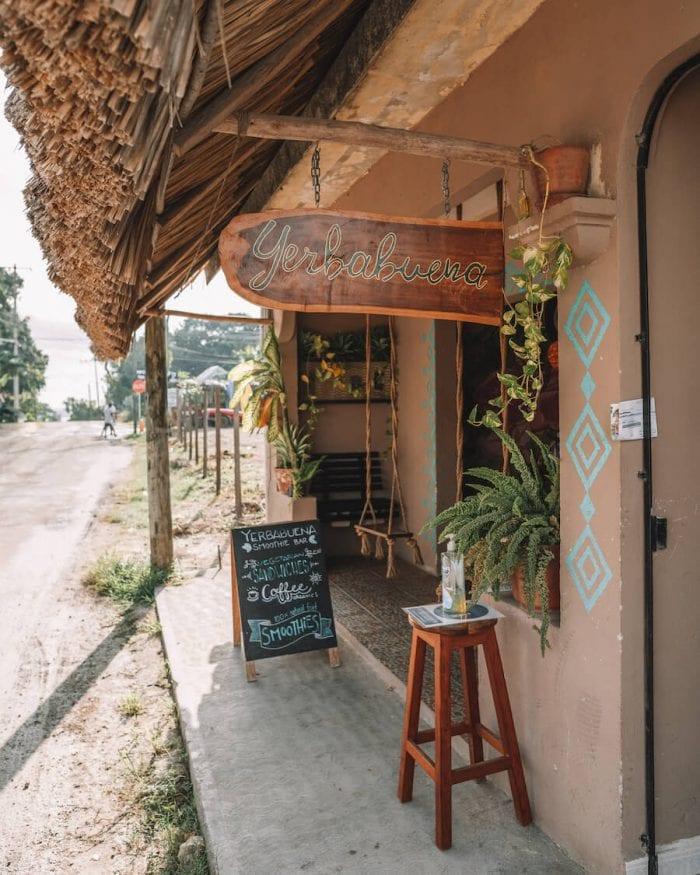 Yuerba Buena smoothie bar in Bacalar, Mexico