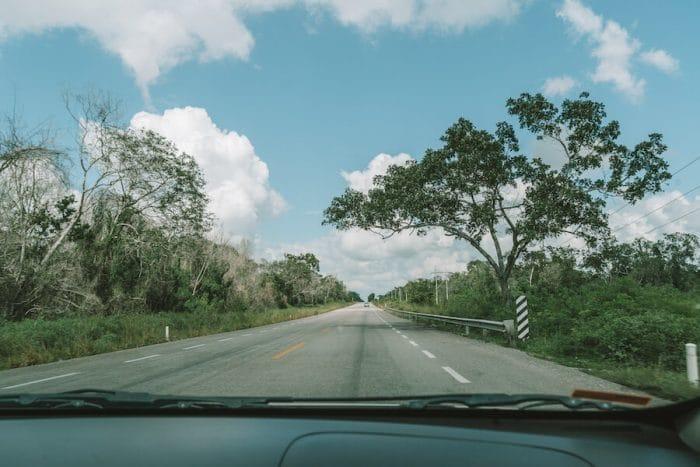 En route to the Bacalar Lagoon