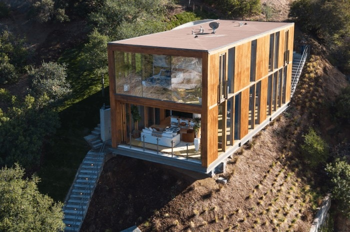 Exterior of the Boxhouse in Laurel Canyon