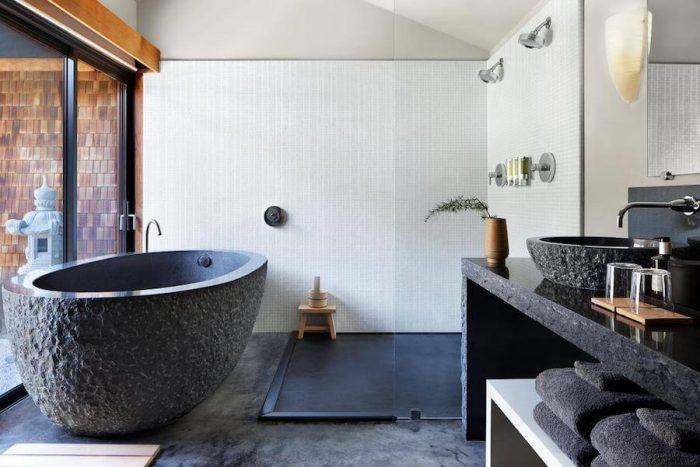 Bathtub at Gaige House + ryokan