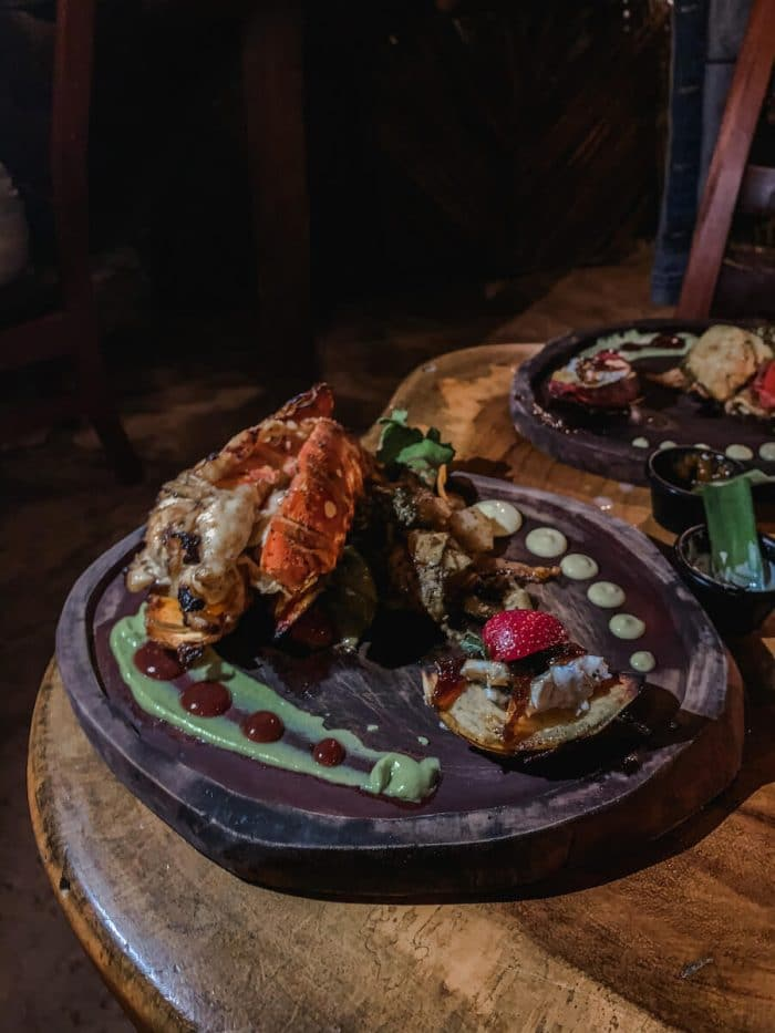 Lobster at Nixtamal, Bacalar