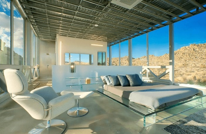 Unique places to stay in California - Invisible House interior