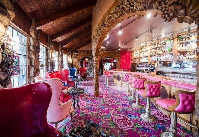 Pink bar at the Madonna Inn