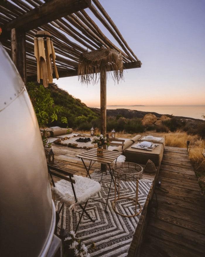 Unique places to stay in California - Malibu dream airstream