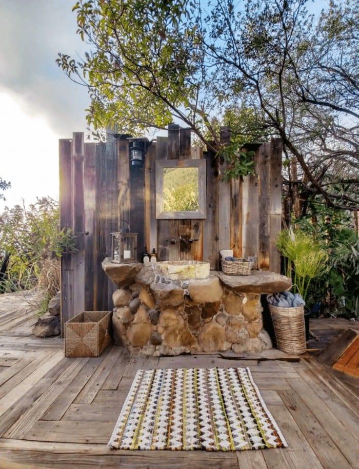 Bathroom at Malibu dream airstream