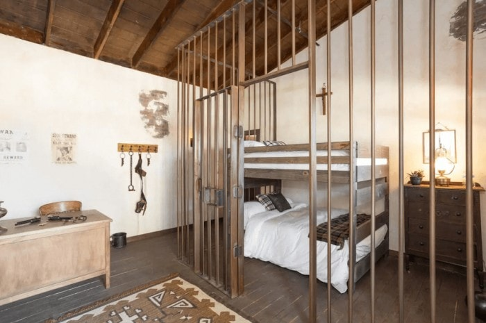 An Old West ghost town bedroom in Temecula