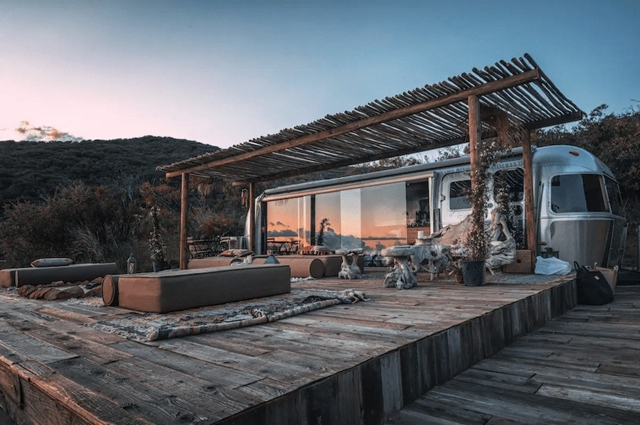 Unique places to stay in California - Malibu airstream
