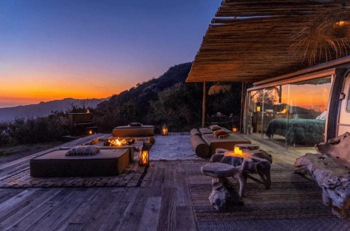 Malibu Dream Airstream at sunset