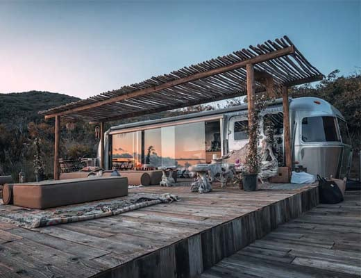 Unique places to stay in California - Malibu airstream