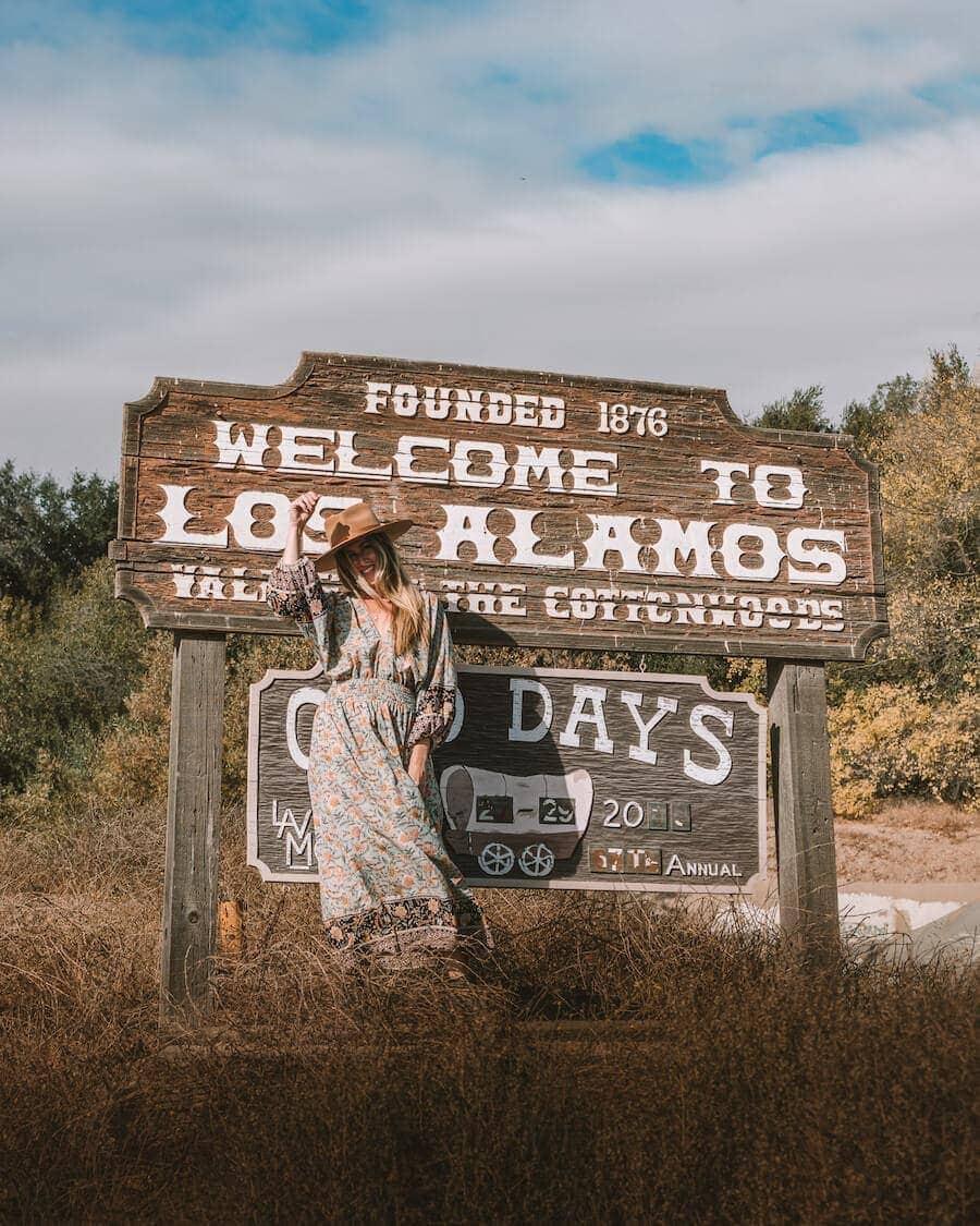 Western vibes Los Alamos sign