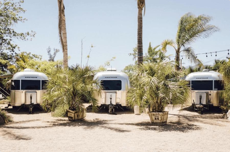 Airstream trailers at Caravan Outpost in Ojai
