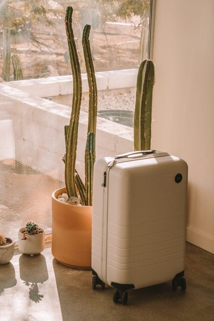 White Monos suitcase