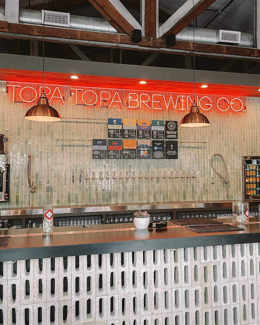 Topa Topa Brewing Co in Ojai, California
