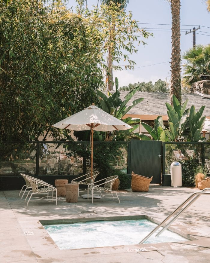 Pool area at the Capri Hotel, Ojai