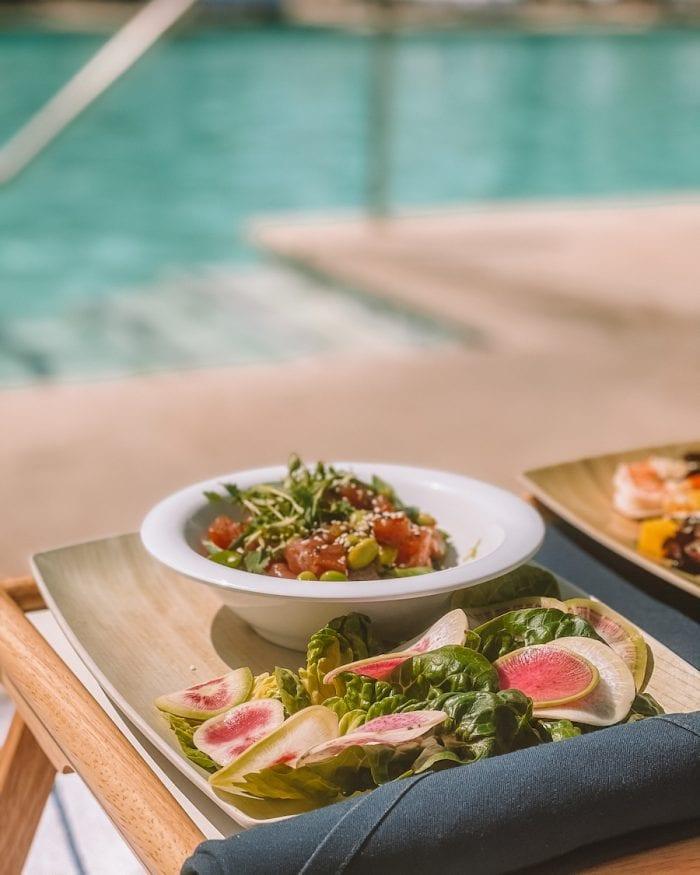 Pool salad at the Ojai Valley Inn