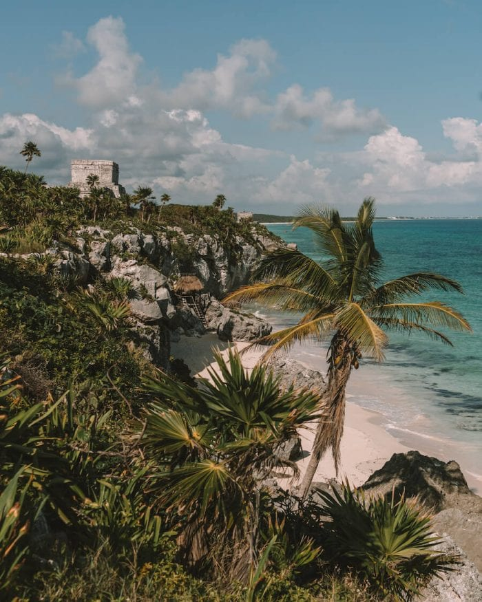 View overlooking Tulum Ruins (best things to do in Tulum)