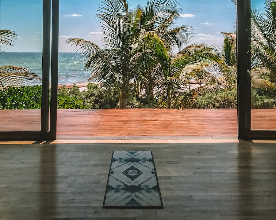 Yoga class in Tulum (best things to do in Tulum)
